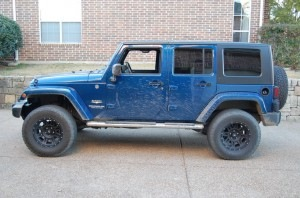 Wrangler with 33s and 2.5 inch lift