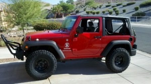 """JK with 33"""" tires and no lift"""