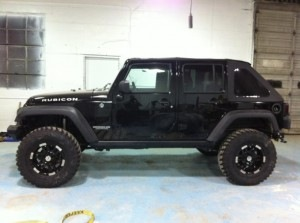 Jeep Wrangler with 35 inch tires and 4.5 inch lift kit